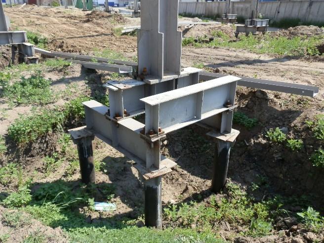 фундамент под металлическую колонну фото