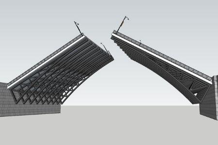 элементы металлического моста фото